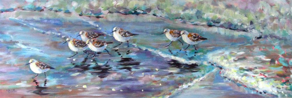 """Walking Fast Ahead of the Waves"" original fine art by Melissa Gannon"