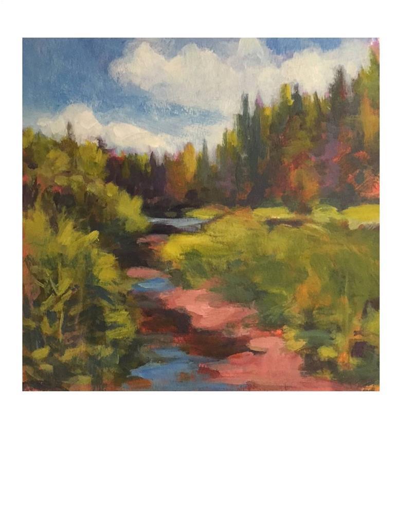 """""""Vermont Stream 1"""" original fine art by Suzanne Woodward"""