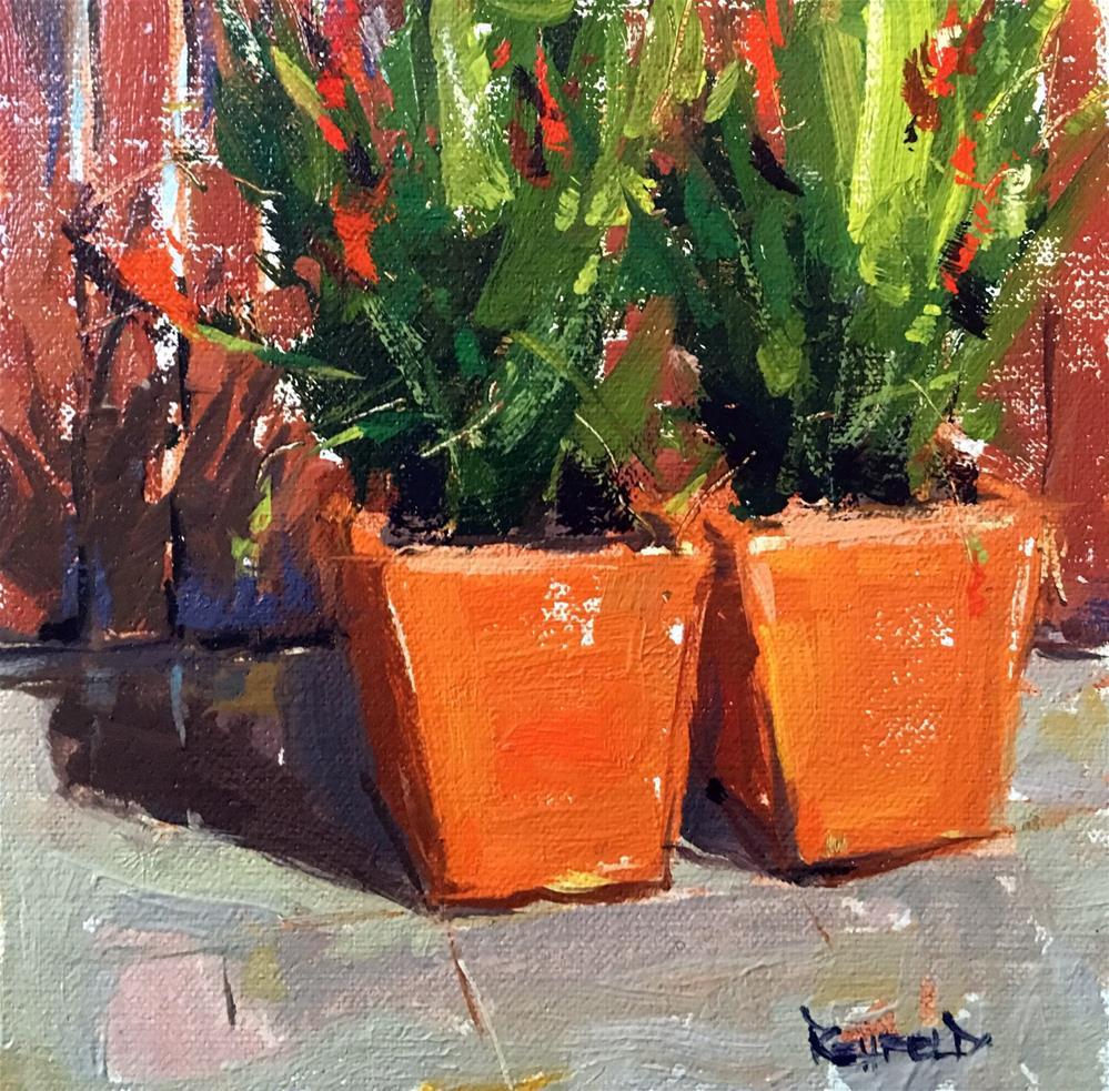 """More Shadows In My Garden"" original fine art by Cathleen Rehfeld"