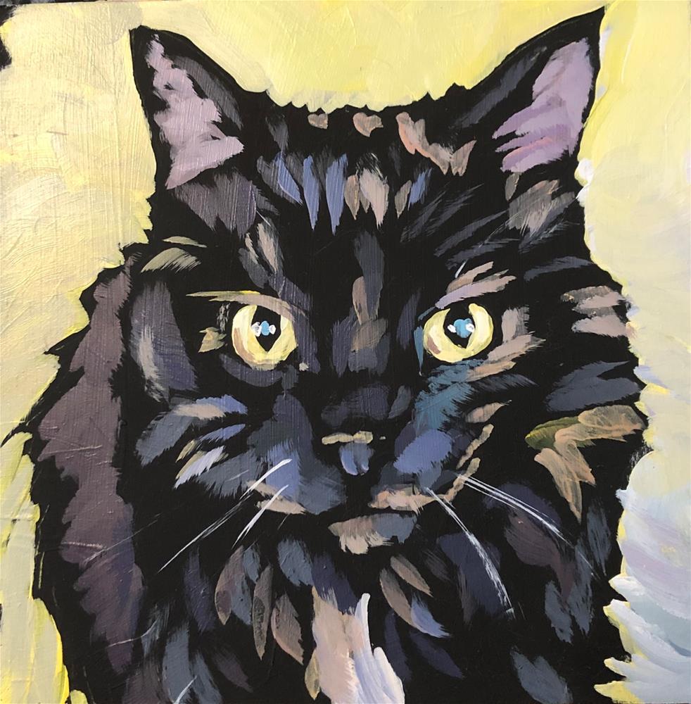 """March 29, Frankie's Cat"" original fine art by Kat Corrigan"