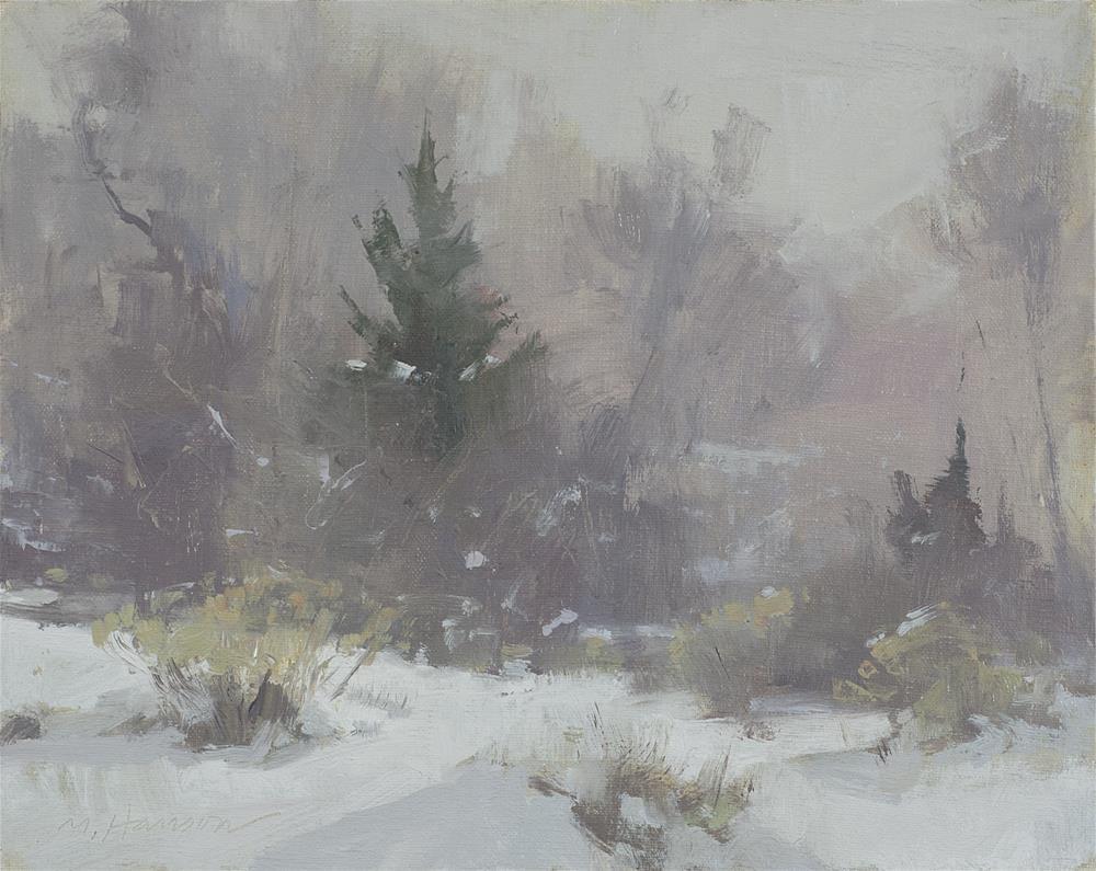 """2-9-1 Freezing Fog #1"" original fine art by Marc Hanson"