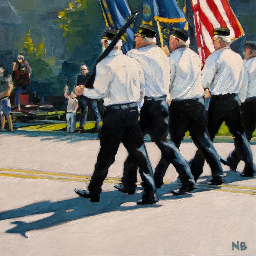 """Color Guard"" original fine art by Nora Bergman"