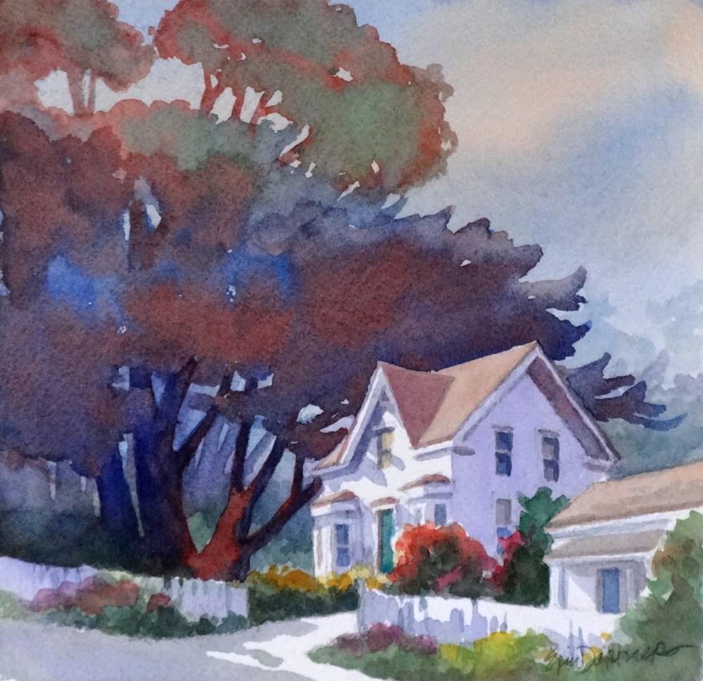 """""""Blue Door Inn"""" original fine art by Erin Dertner"""