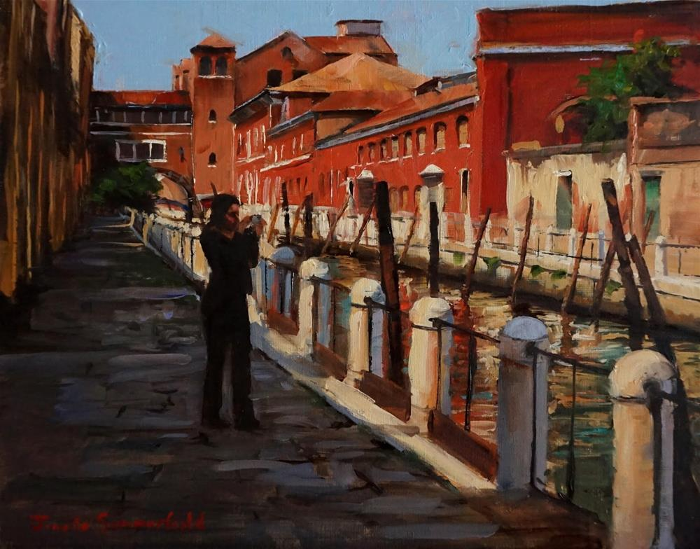 """A Tourist in Venice"" original fine art by Jonelle Summerfield"