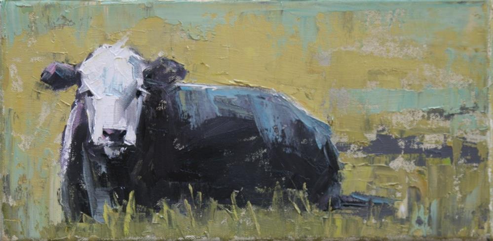 """""""happy cow"""" original fine art by Carol Carmichael"""