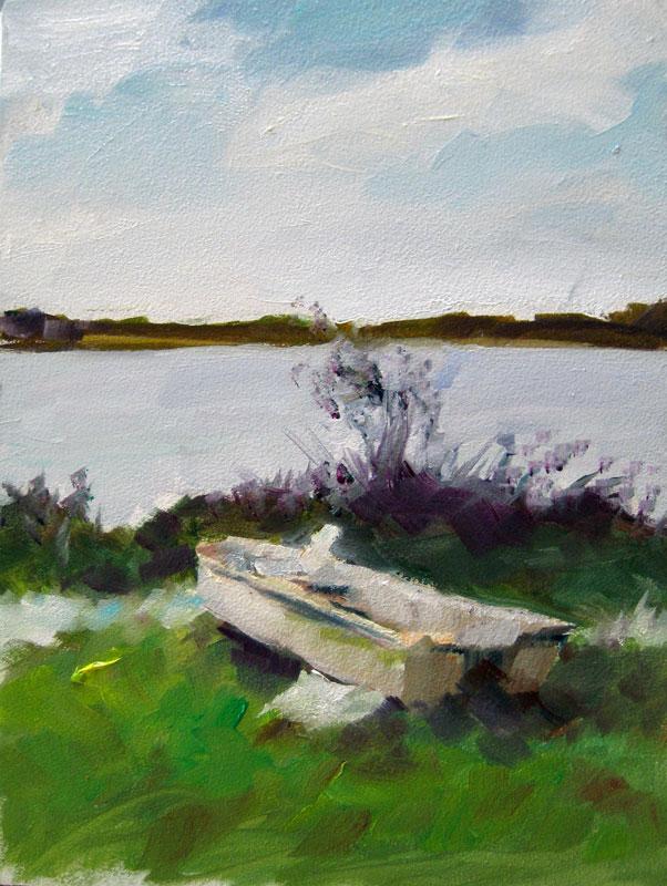 """""""Lake III"""" original fine art by Clair Hartmann"""