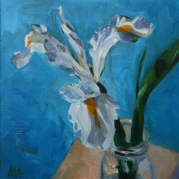 """White"" original fine art by Aniko Makay"