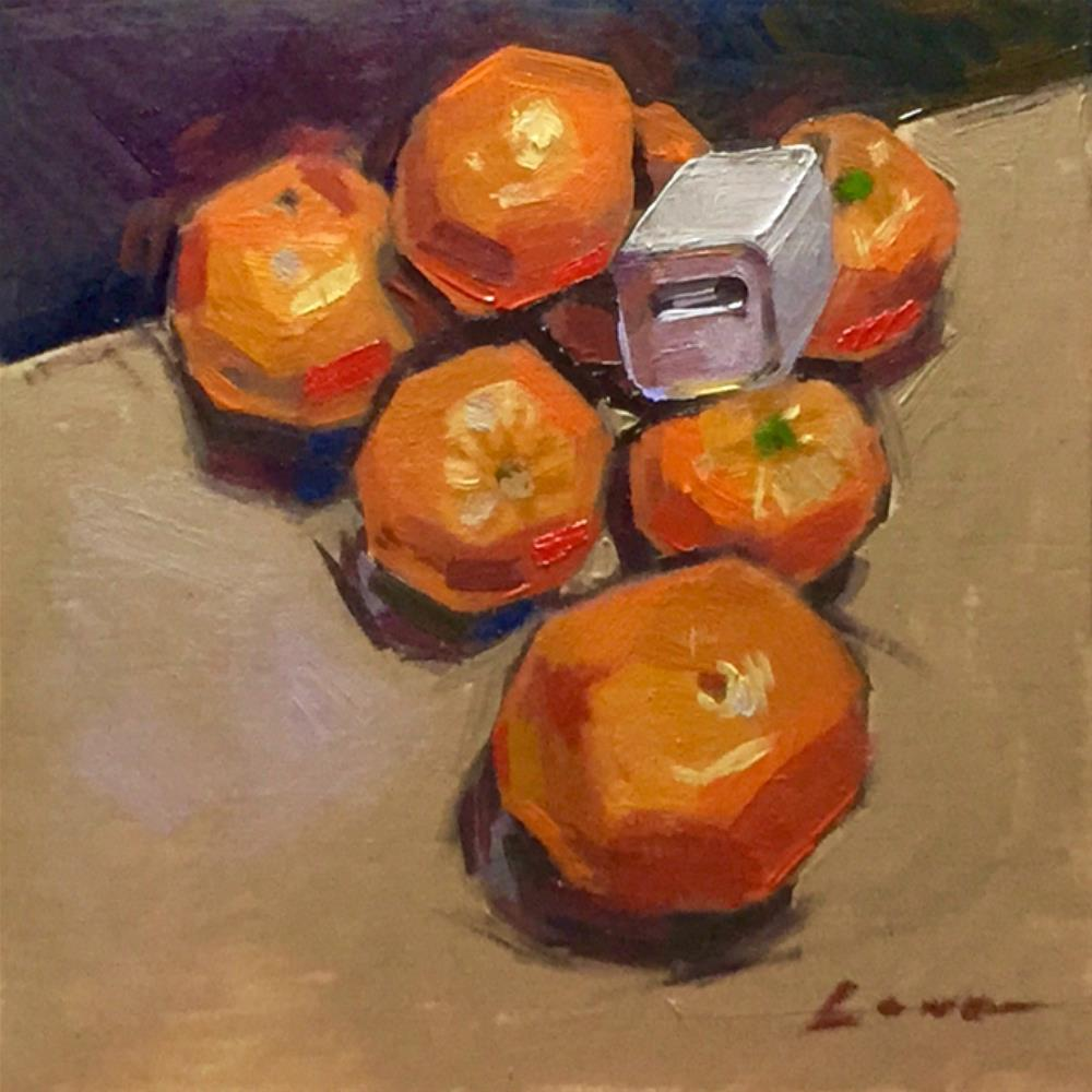 """Still Life With Mandarins and iPhone Component"" original fine art by Chris Long"