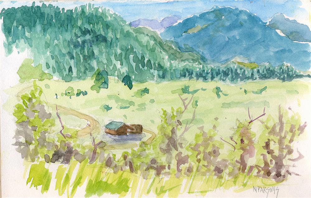 """Wood Ranch, Nye III"" original fine art by Nancy Parsons"