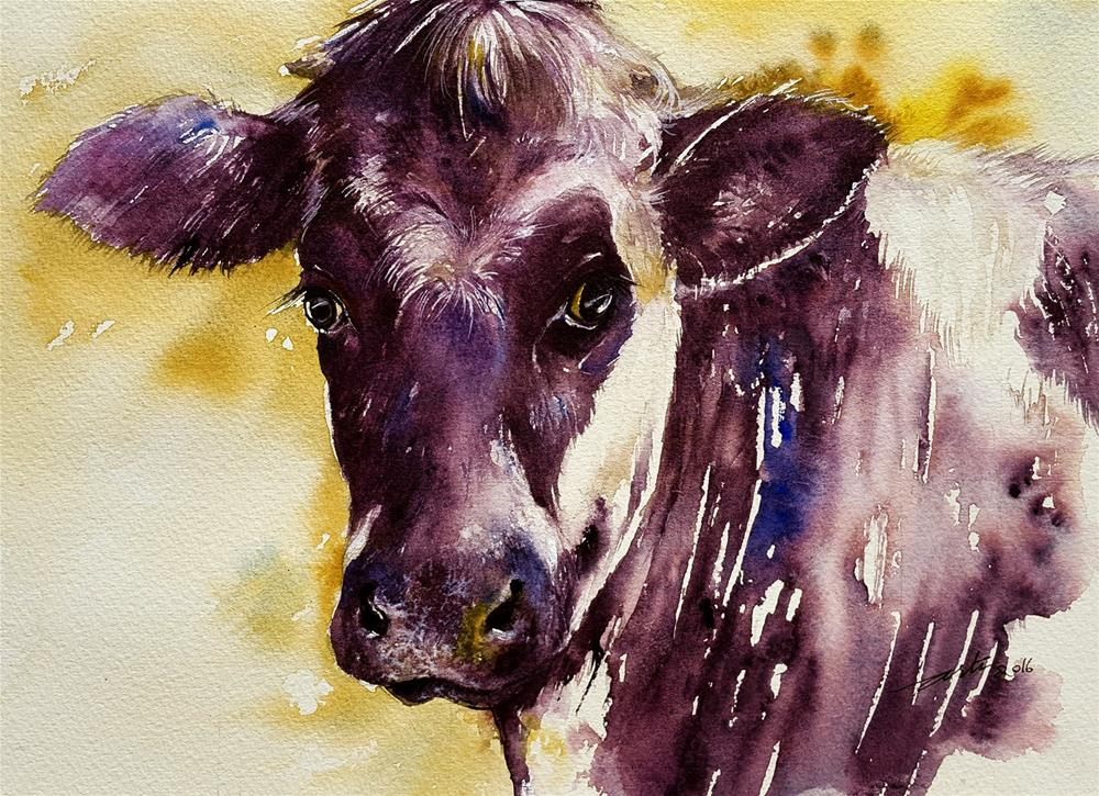 """Spotted Cow"" original fine art by Arti Chauhan"