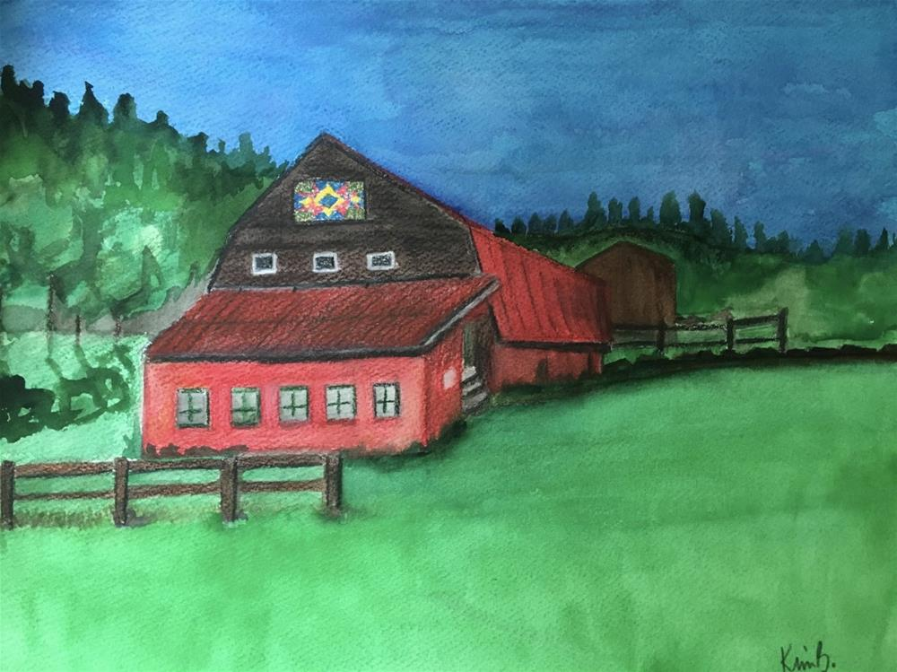 """NC Quilt Barn"" original fine art by Kimberly Balentine"