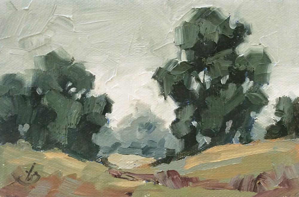 """RAIN ON THE WAY"" original fine art by Tom Brown"