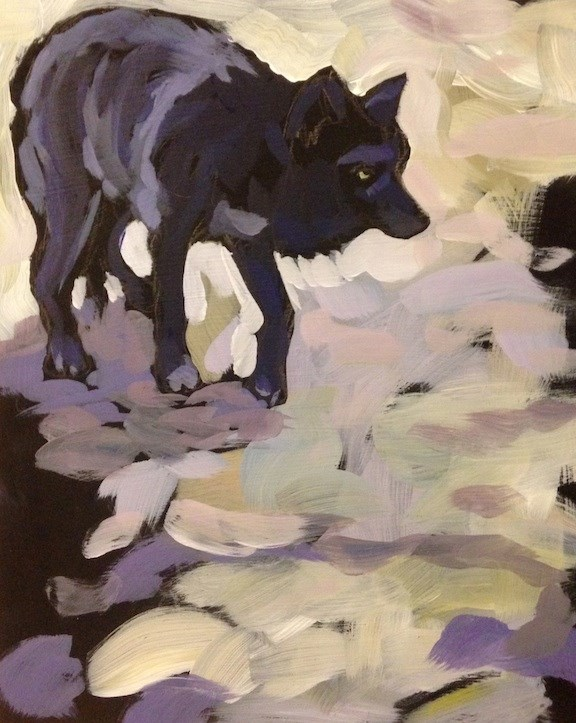 """Cautious"" original fine art by Kat Corrigan"