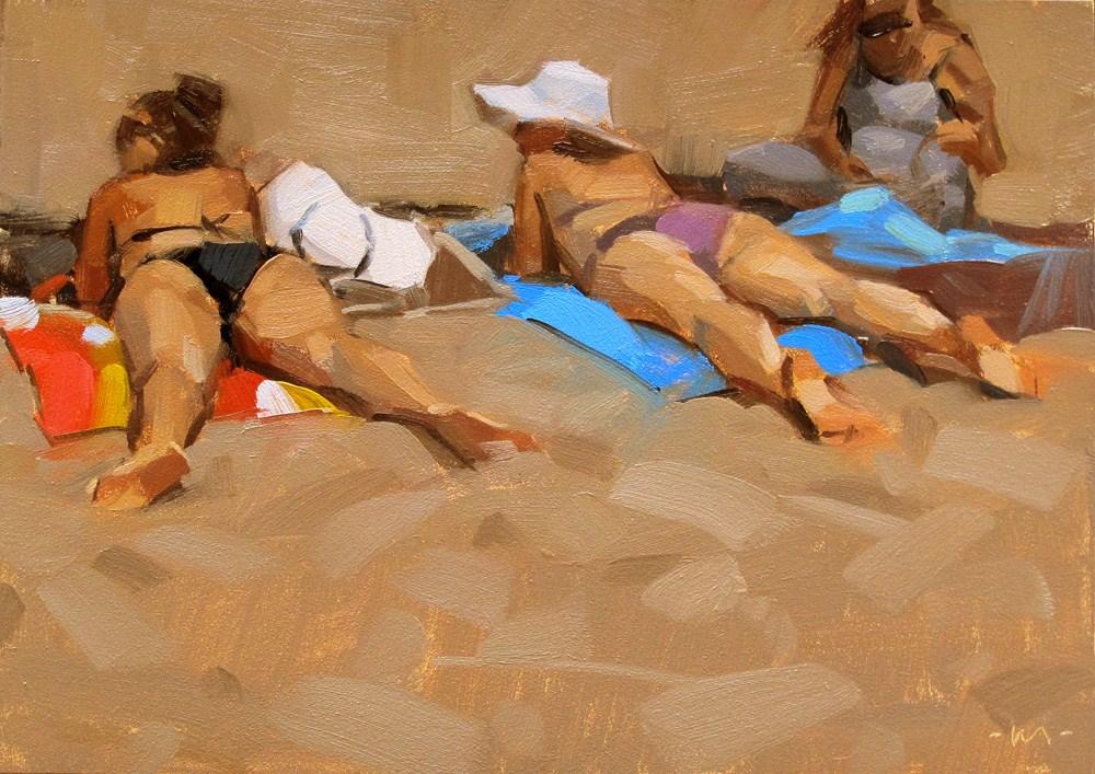 """Scanning for Dudes"" original fine art by Carol Marine"