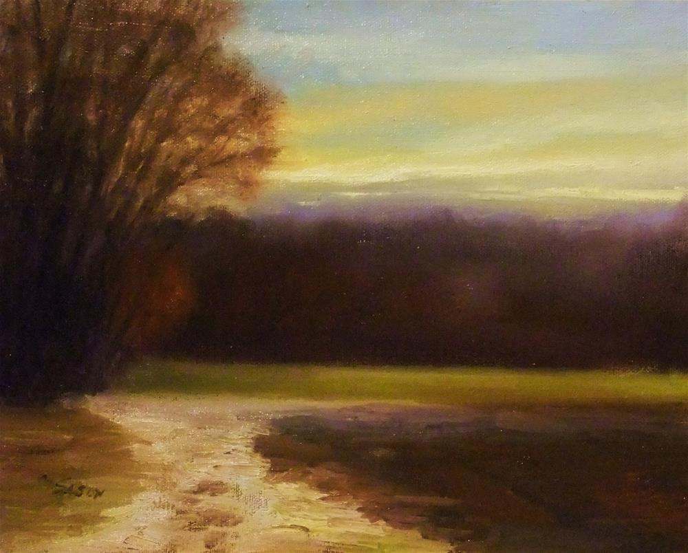 """Sundown at the forest´s edge - larger work"" original fine art by Michael Sason"