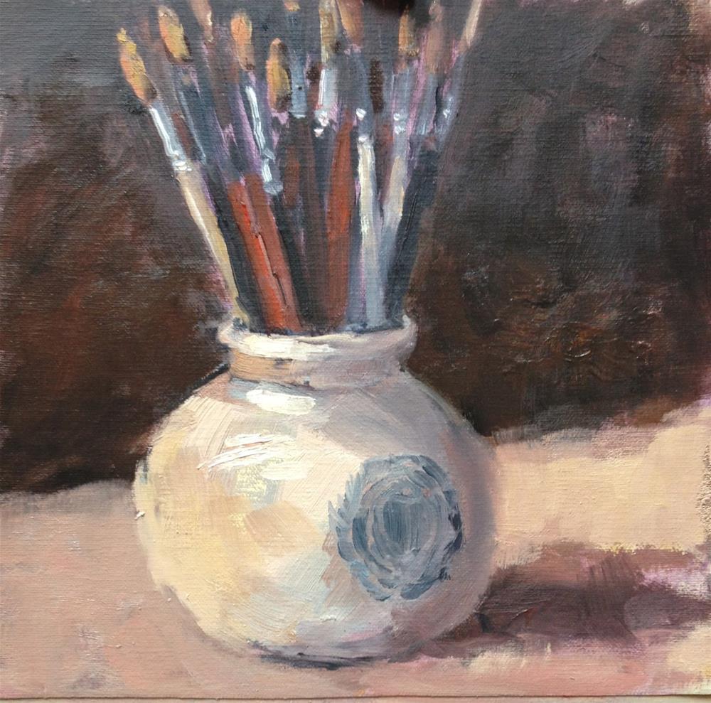 """""""Brushes"""" original fine art by Mo Teeuw"""