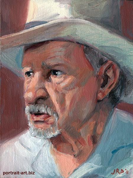 """Viejo"" original fine art by J. Dunster"