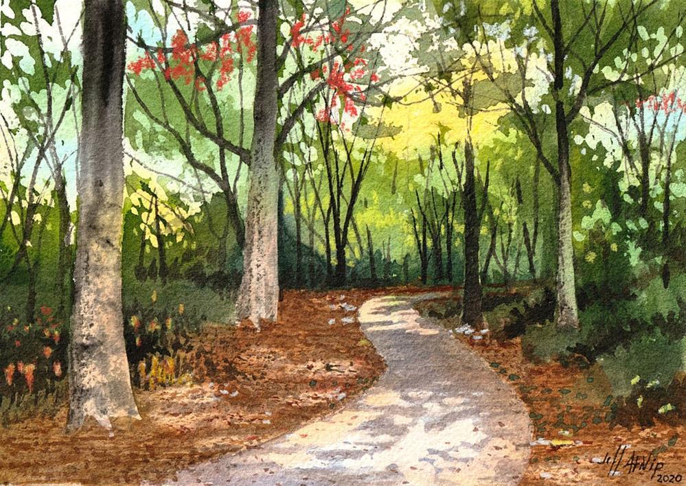 """A Good Place To Walk"" original fine art by Jeff Atnip"