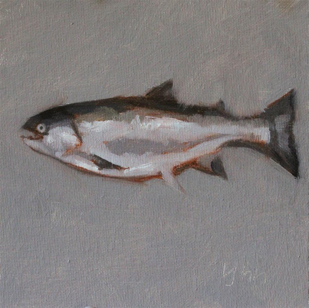 """Fish"" original fine art by Yuehua He"