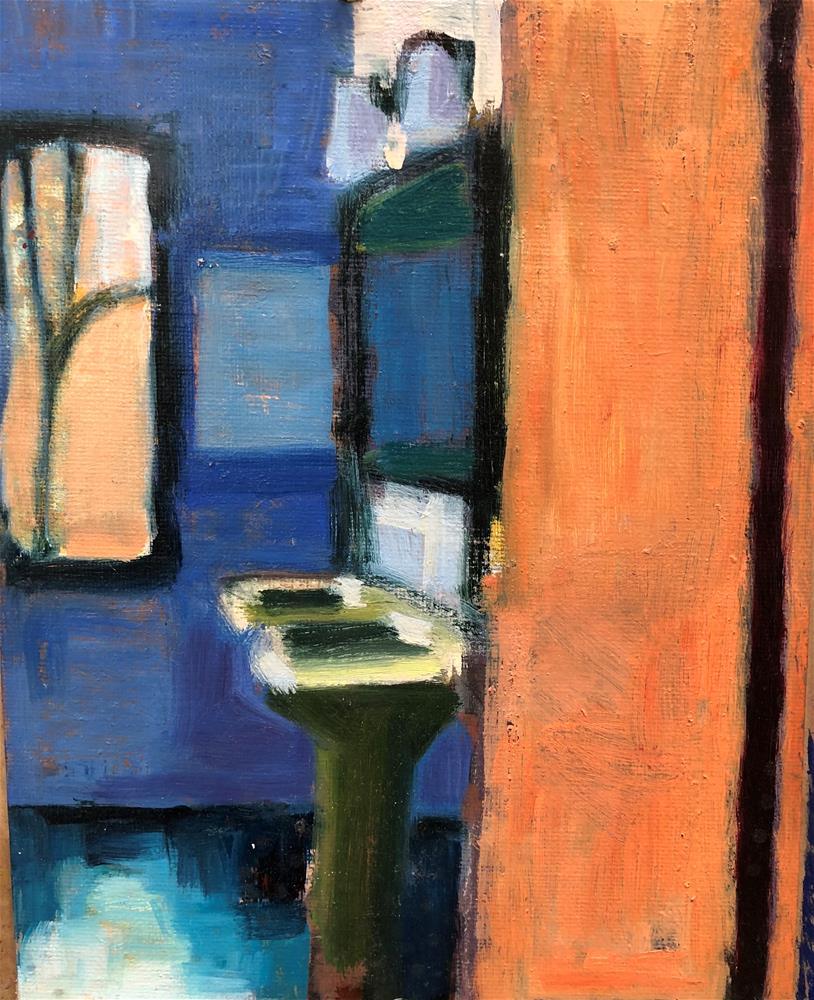 """Tucson Bathroom"" original fine art by Pamela Hoffmeister"