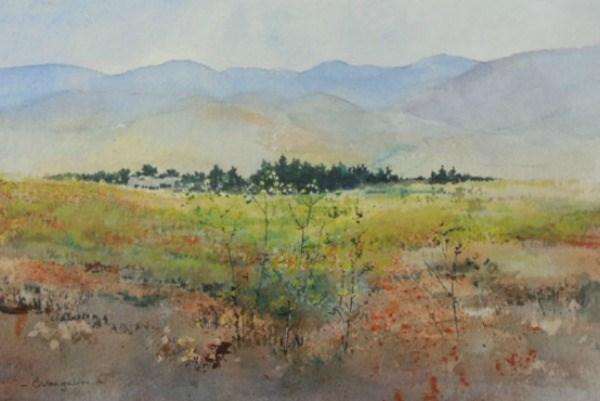 """Tehachapi"" original fine art by Evangeline Adams"