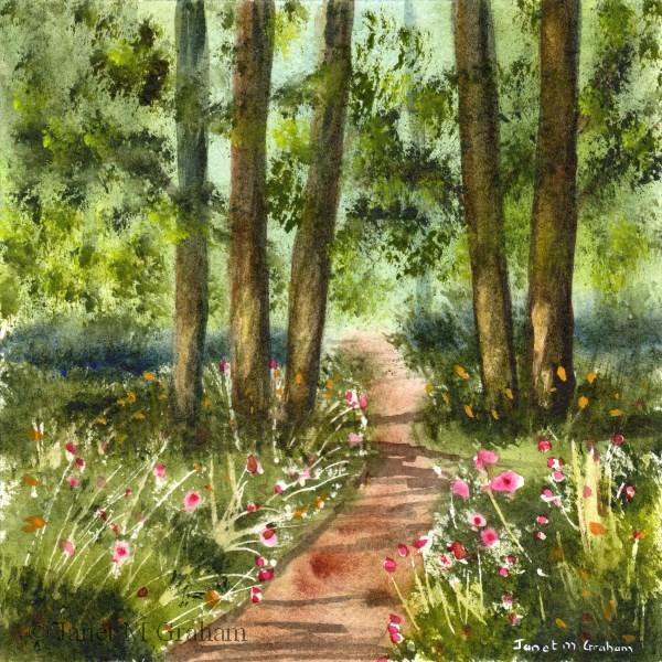 """Spring Pathway"" original fine art by Janet Graham"