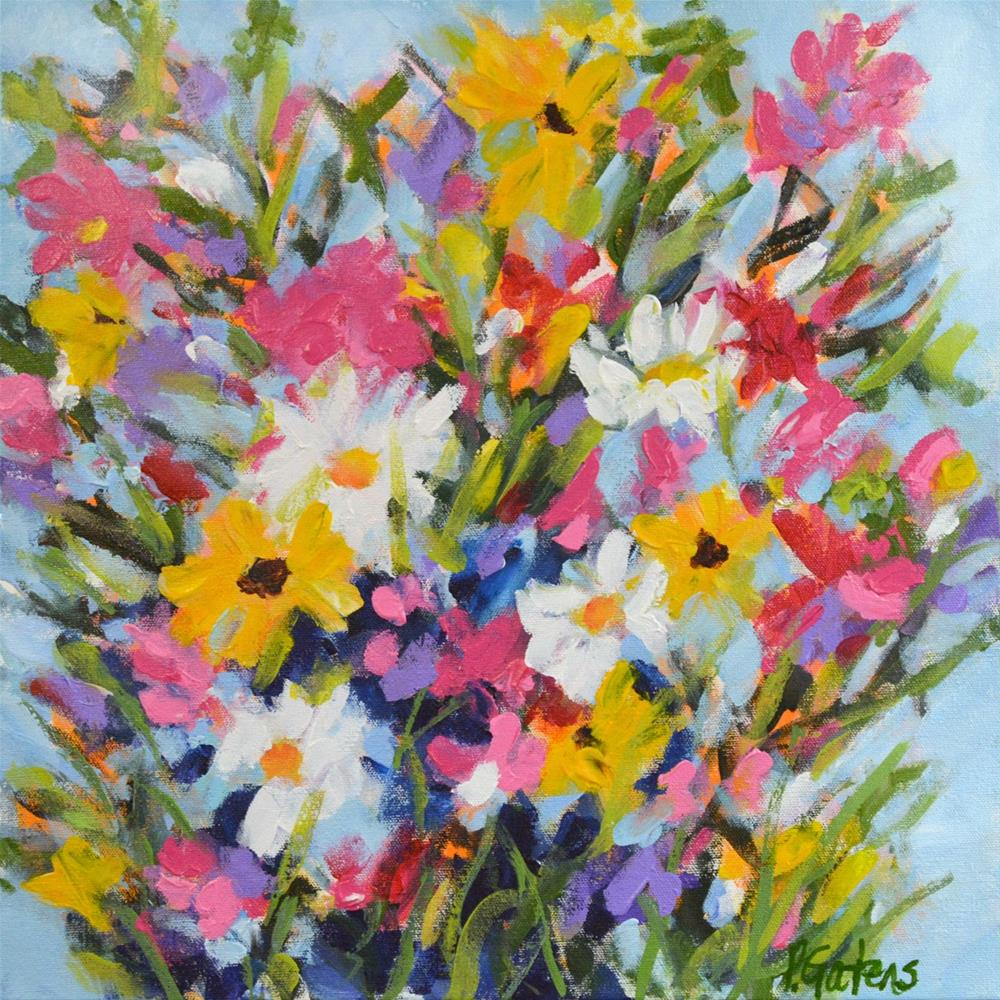 """Country Wildflowers"" original fine art by Pamela Gatens"