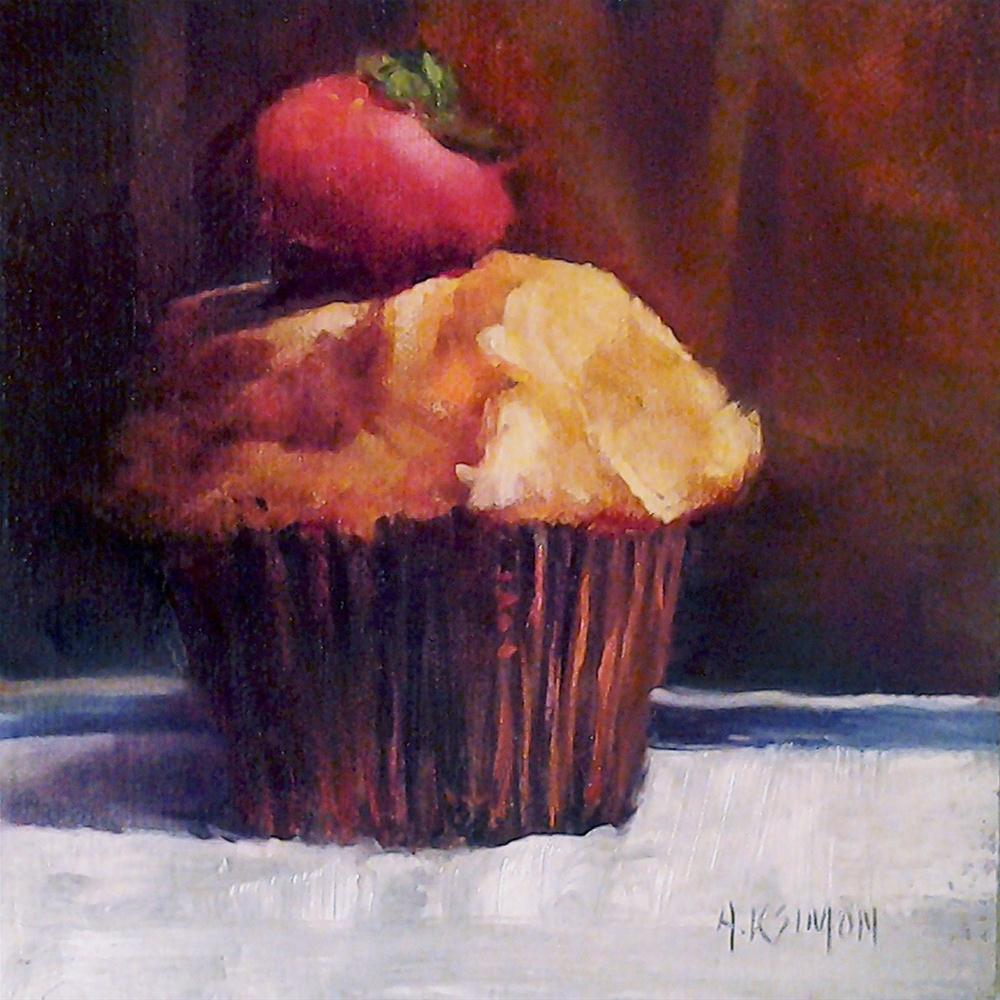 """""""Muffin from the Moon"""" original fine art by A.K. Simon"""