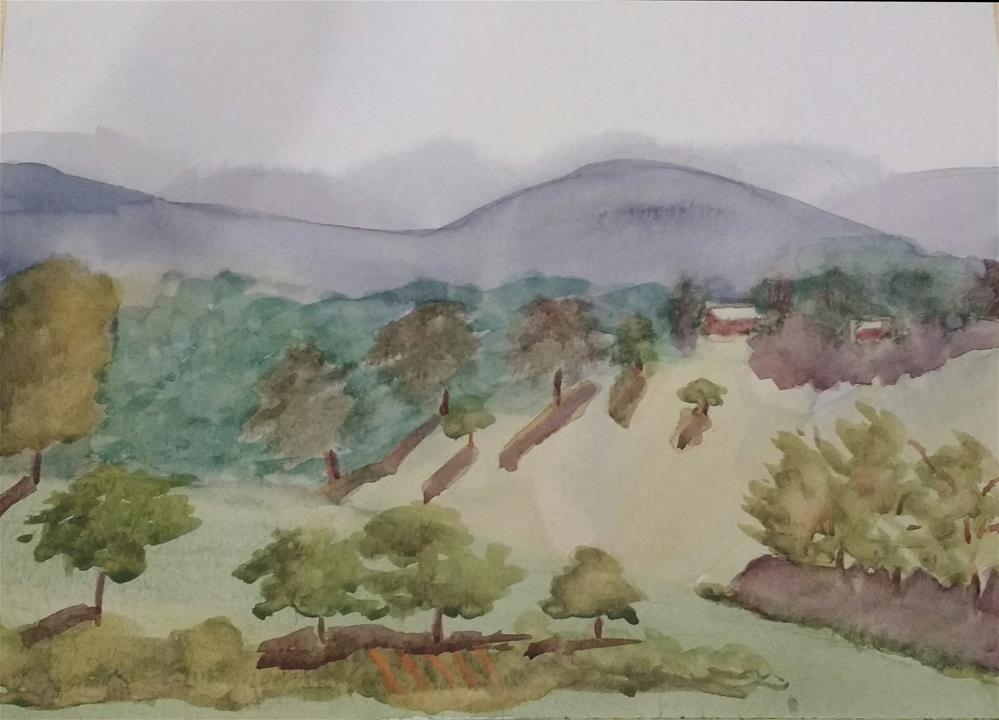 """Blue Ridge Afternoon I"" original fine art by Maria Peagler"