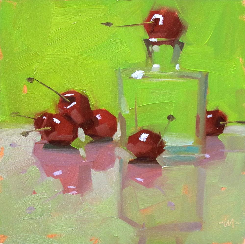 """Pink Reflections"" original fine art by Carol Marine"