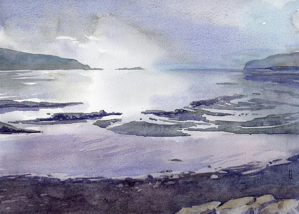 """Rocky Beach"" original fine art by Robyn Jorde"