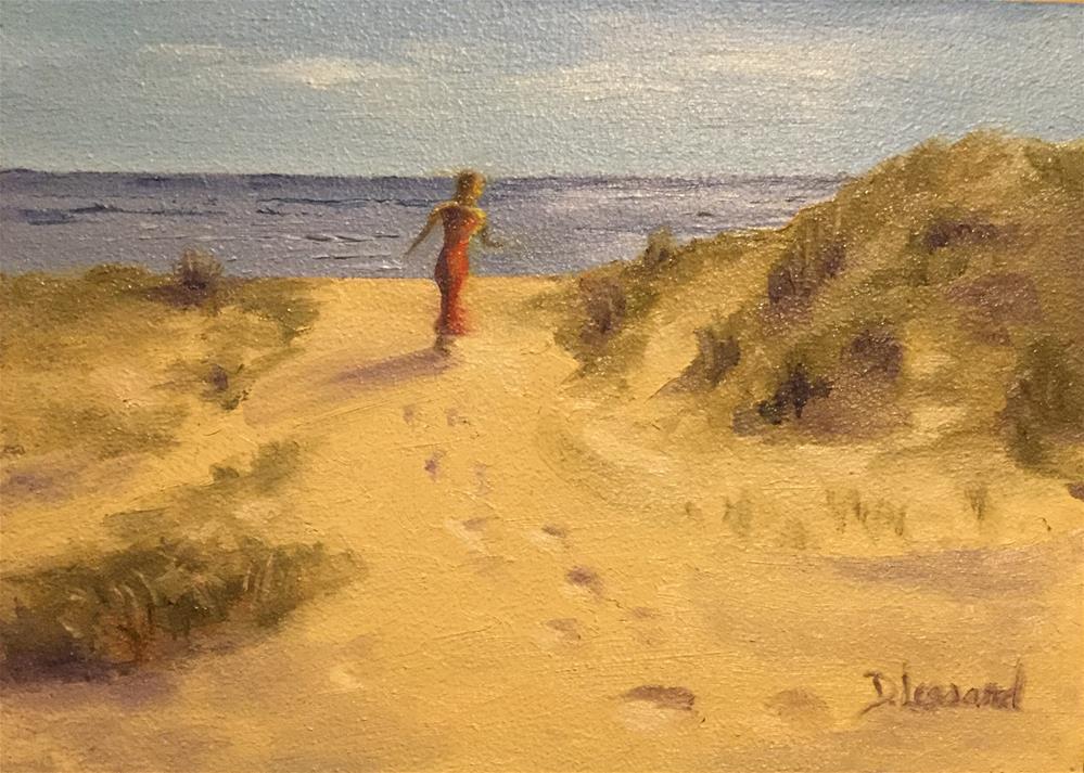 """Peaceful Breeze #1626"" original fine art by Dee Lessard"