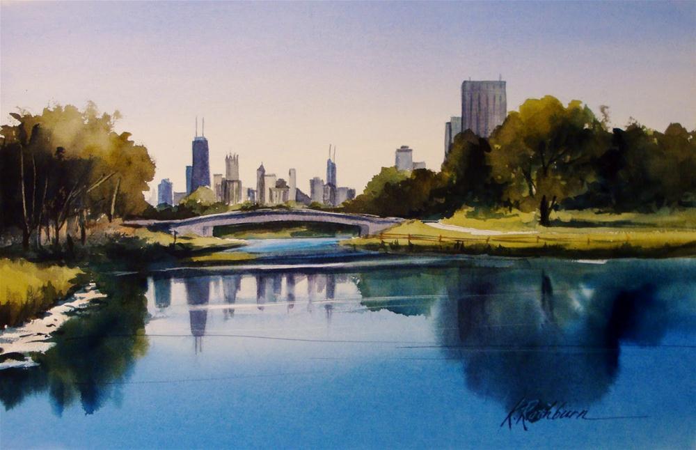 """Lincoln Park Lagoon-Chicago"" original fine art by Kathy Los-Rathburn"