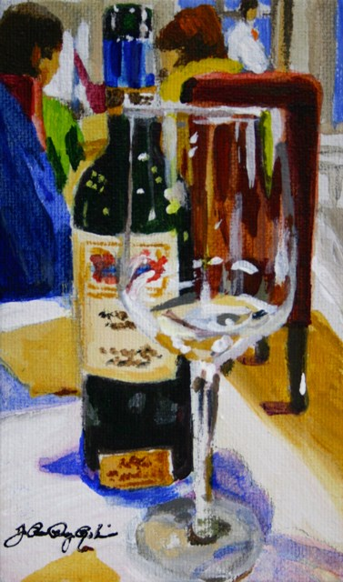 """Reservations"" original fine art by JoAnne Perez Robinson"