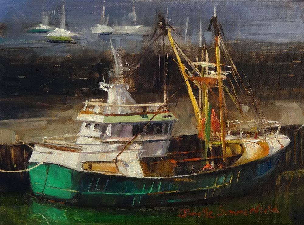 """""""Wexford Boat"""" original fine art by Jonelle Summerfield"""