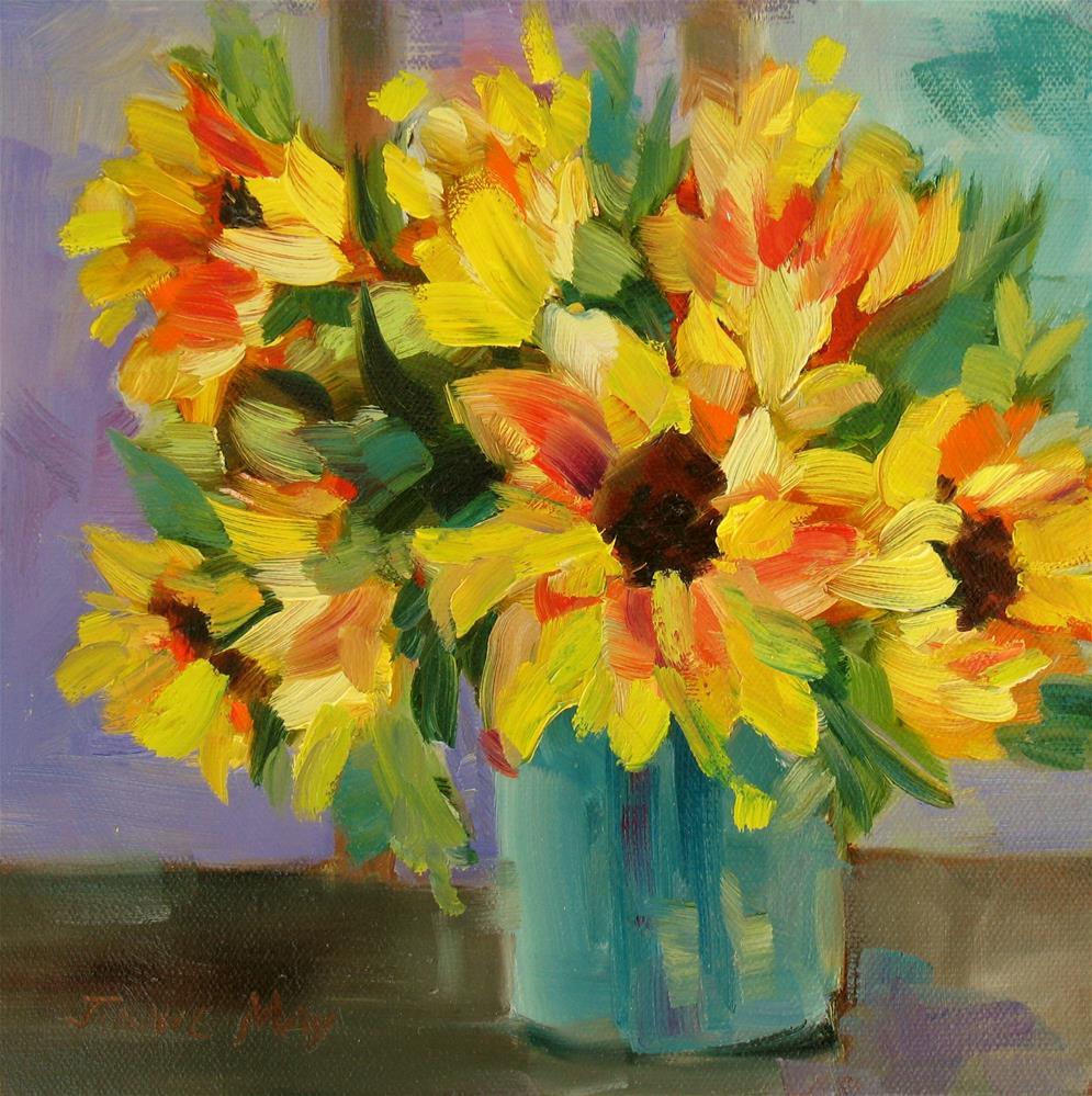 """Sunflowers"" original fine art by Jinnie May"