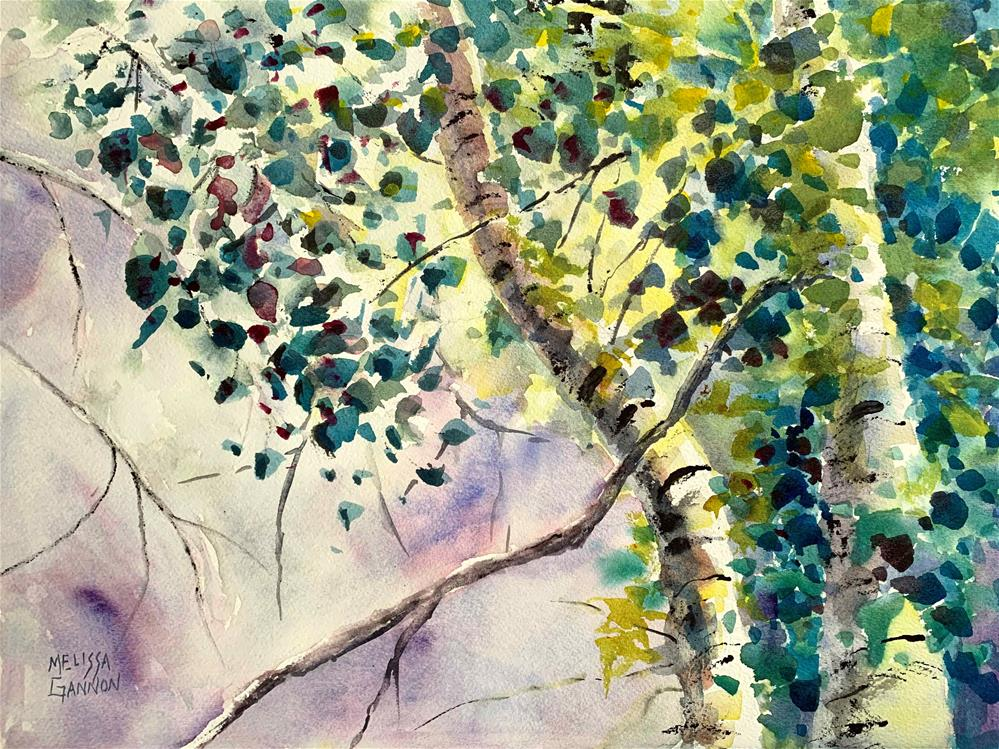 """Looking Up at the Trees"" original fine art by Melissa Gannon"
