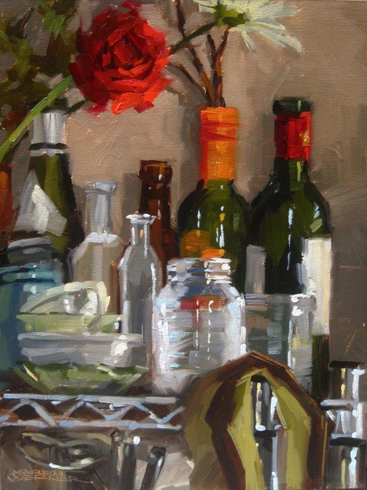 """Top Shelf"" original fine art by Karen Werner"