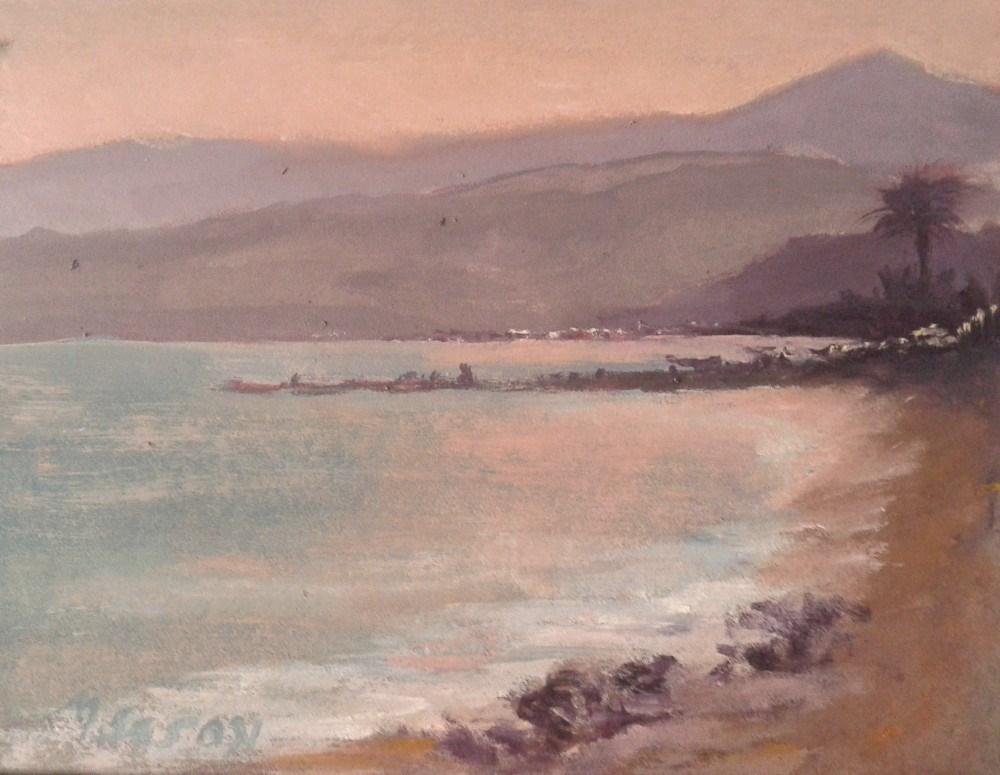 """""""Costa del Sol - Sunset"""" original fine art by Michael Sason"""
