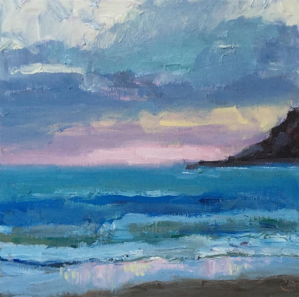 """Sunset on Dory Beach"" original fine art by Victoria  Biedron"