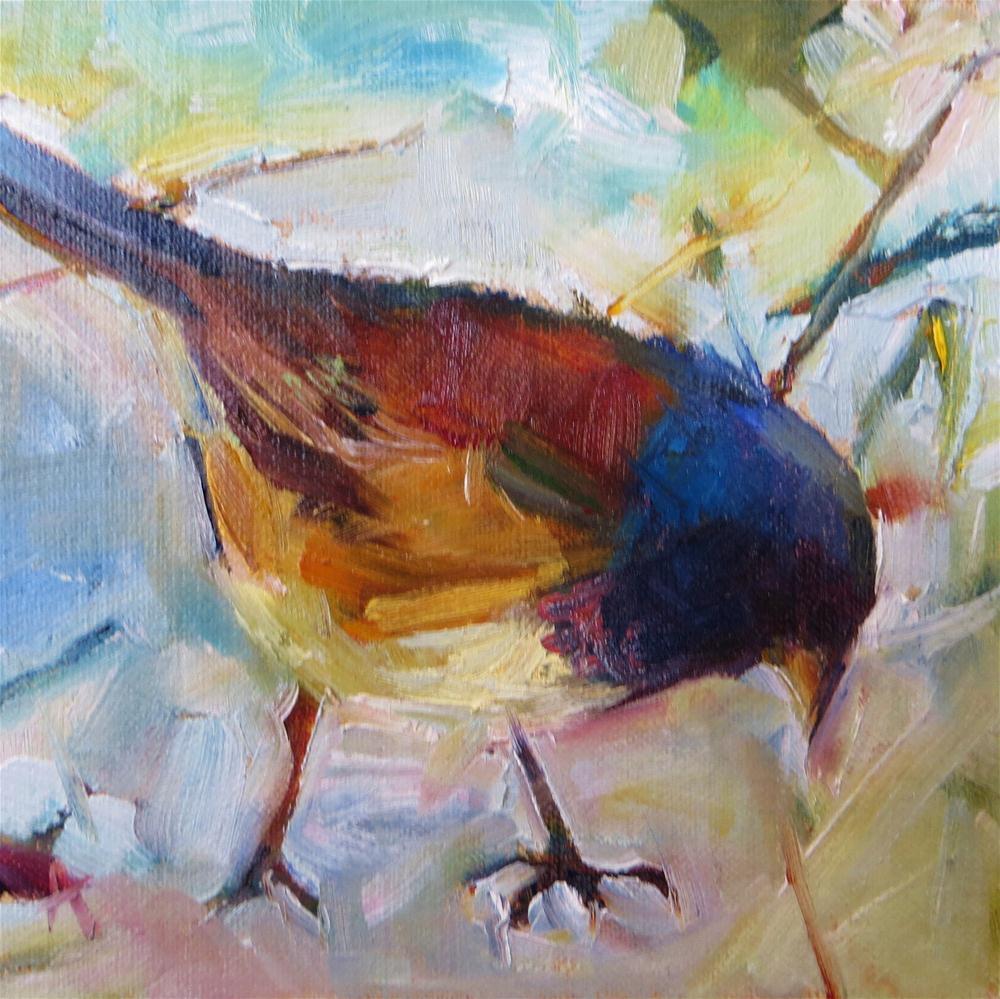 """Jazzy Junco"" original fine art by Scarlet Owl Studio"
