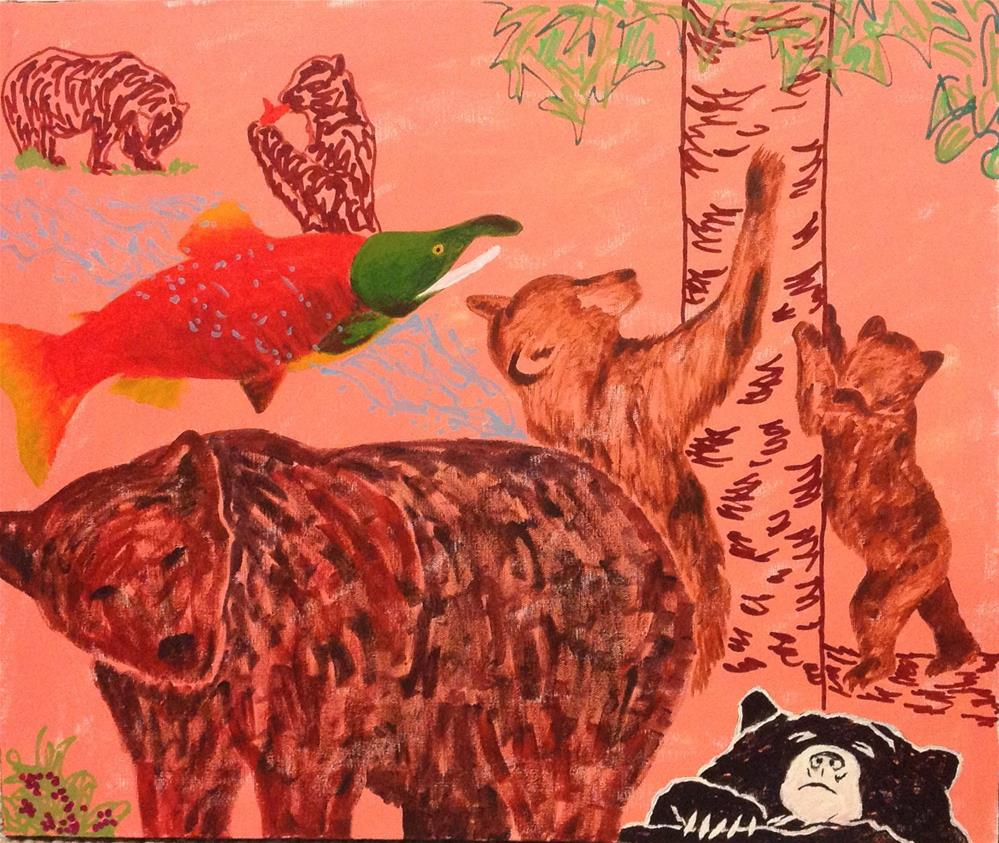 """Bear Necessities"" original fine art by Rachel  Holland"