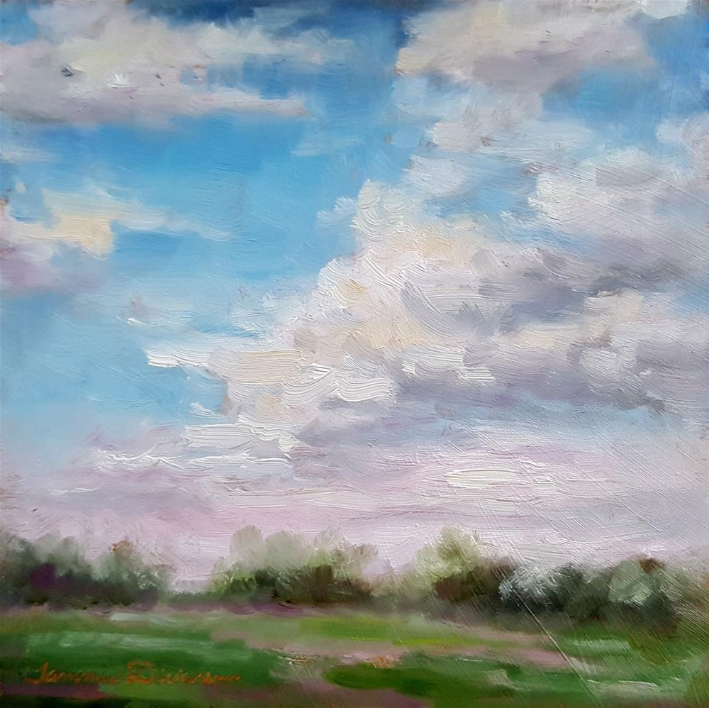 """Clouds of May"" original fine art by Tammie Dickerson"