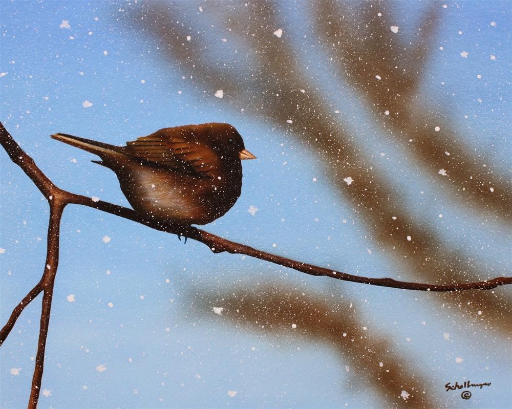 """""""Snow Shower"""" original fine art by Fred Schollmeyer"""