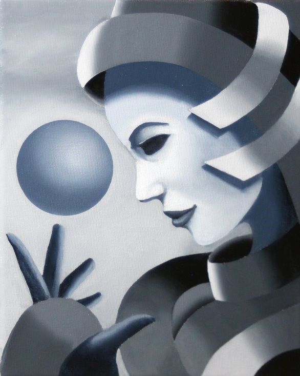 """""""Mark Webster - Gray Matter #10 - Abstract Grayscale Oil Painting"""" original fine art by Mark Webster"""