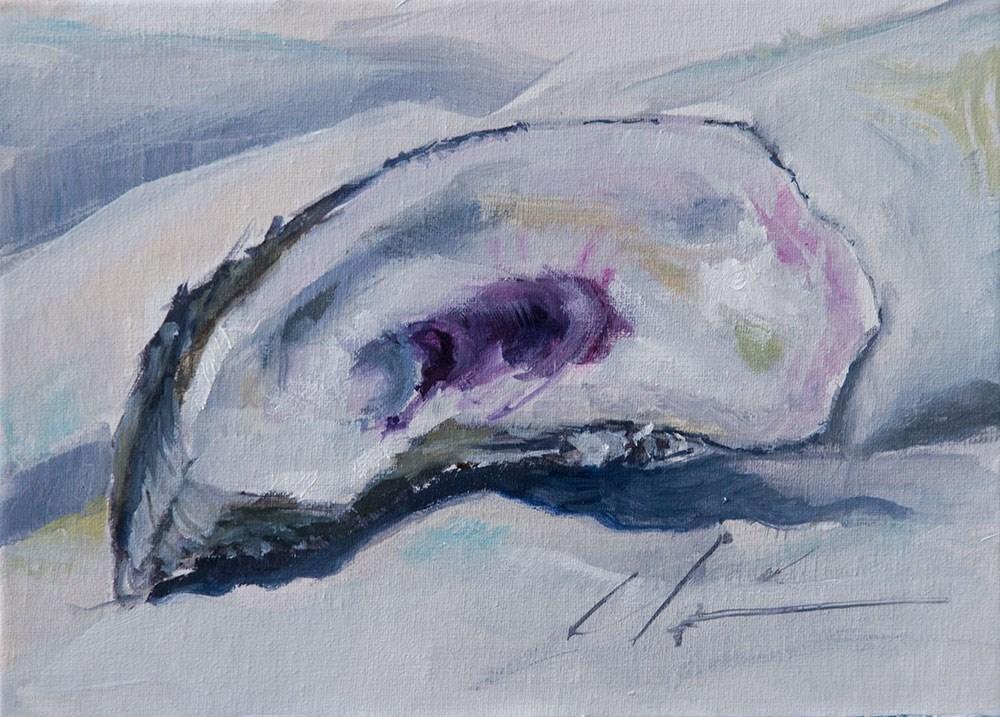"""White Oyster"" original fine art by Clair Hartmann"