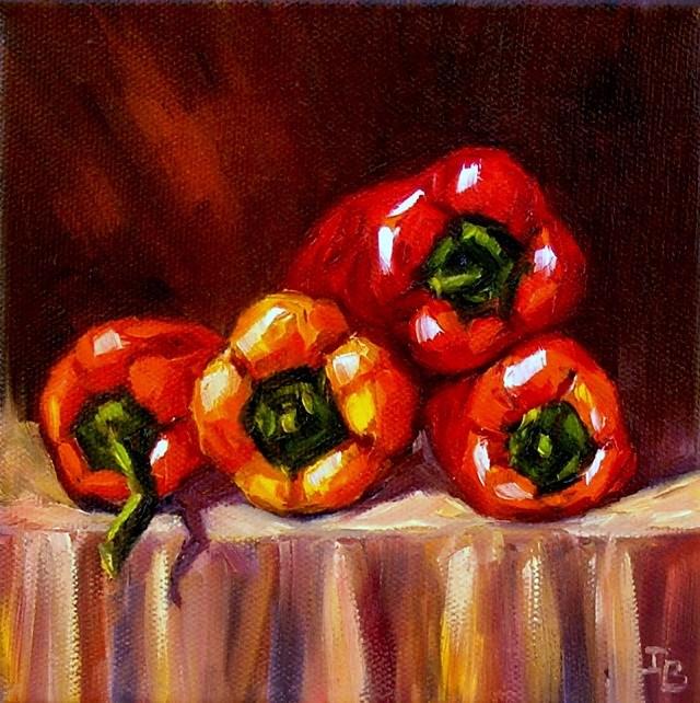 """""""Four Together"""" original fine art by Irina Beskina"""
