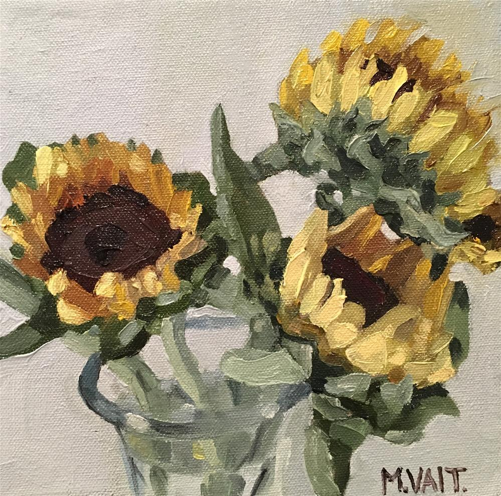 """Sun Flowers"" original fine art by Milda Vaitiekunaite"