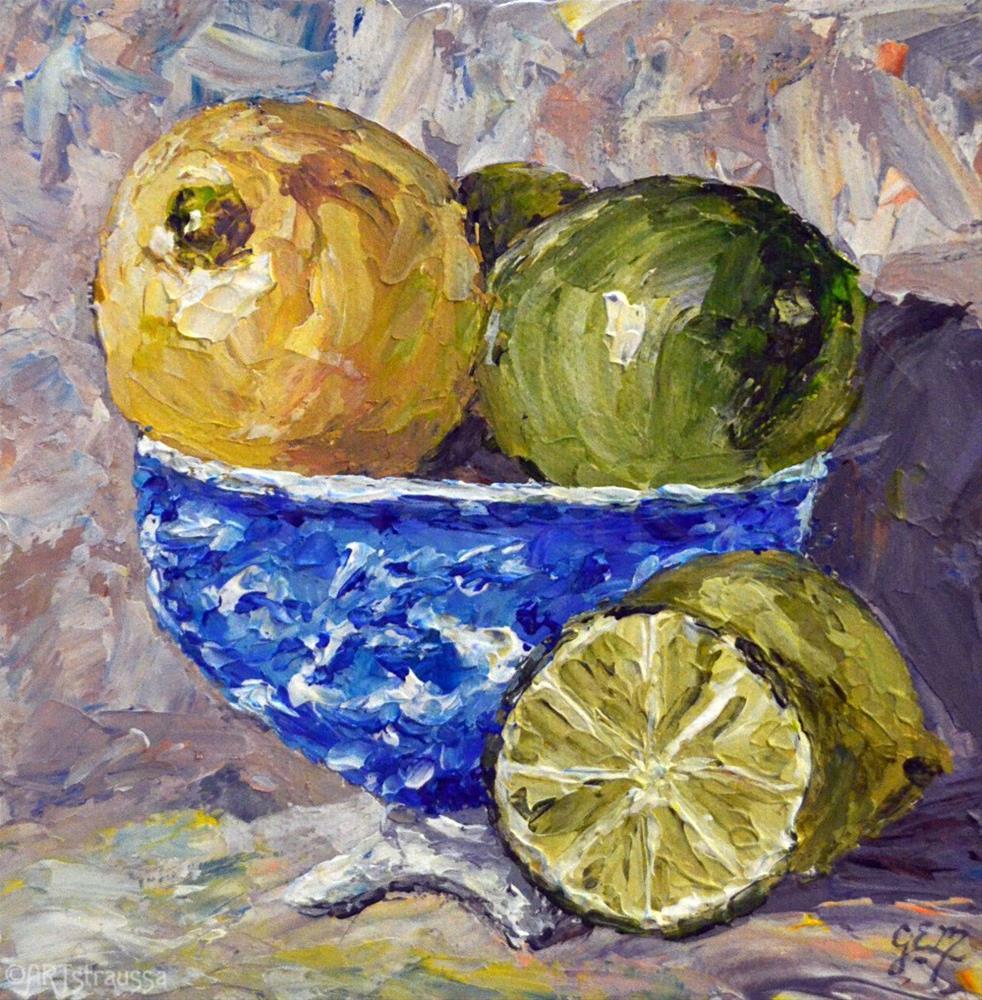 """Lemony June (Charity)"" original fine art by Gloria Ester"