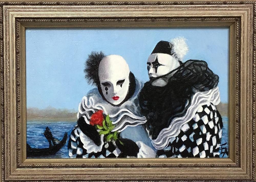 """""""Carnivale"""" original fine art by Elizabeth Elgin"""